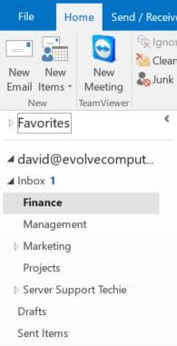 Move Folders to Make Email Faster